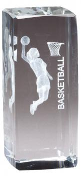 CRY1211 Collegiate Series Sports Crystal Male Basketball