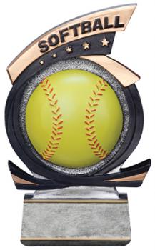 PDU 81520GS Gold Star Softball Resin Award