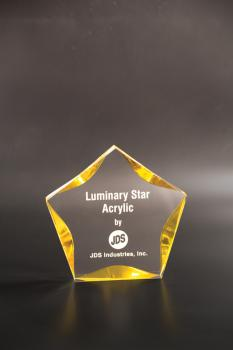 JDS LST7GD Light Gold Clear 7 inch star acrylic