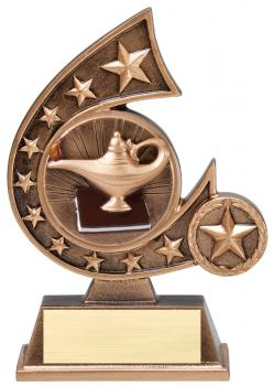 Comet Star Burst Lamp of Learning Education Resin Award