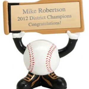 PDU 24503GS Baseball Sign Holder Resin Award