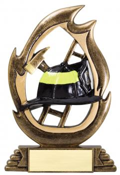 Flame Series Firefighter Resin Award