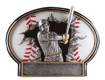 Liberty Burst Thru 3D Resin Baseball Award