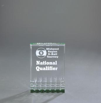 MR31GN Small Mirage Green Acrylic Award