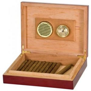 JDS HMD01 Rosewood Piano Finish Humidor with Hygrometer & Humidifier