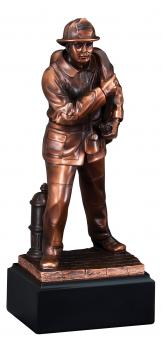 Firefighter Sculpture Bronze Resin Statue