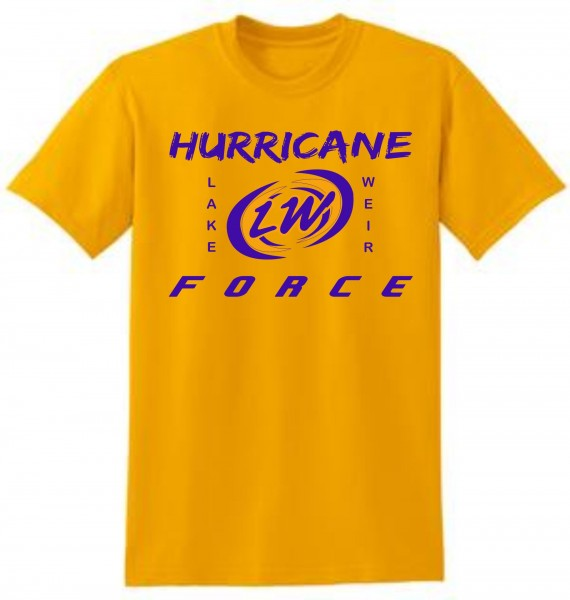 LWHS GOLD SHIRT WITH PURPLE LOGO ON FRONT