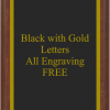 PLAQUE IMAGES BLACK WITH GOLD