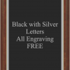 PLAQUE IMAGES BLACK WITH SILVER