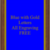 PLAQUE IMAGES BLUE WITH GOLD