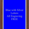PLAQUE IMAGES BLUE WITH SILVER
