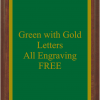 PLAQUE IMAGES GREEN WITH GOLD