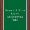 PLAQUE IMAGES GREEN WITH SILVER