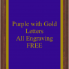 PLAQUE IMAGES PURPLE WITH GOLD