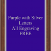PLAQUE IMAGES PURPLE WITH SILVER