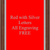 PLAQUE IMAGES RED WITH SILVER