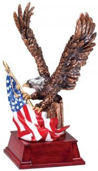 MPI American Eagle with American Flag Resin Award
