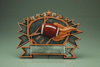 RF2730 Resin Star Football Sport Plate Award large size