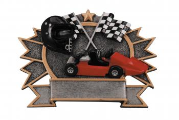 RF2742 Resin Star Go Kart Plate Award large size
