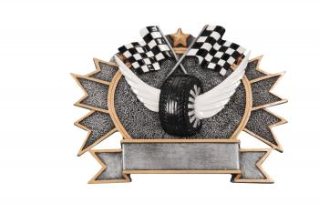 RF2754 Resin Star Racing Car Show Plate Award large size