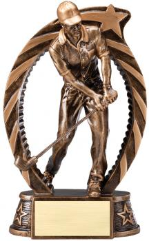 RST807 Running Star Resin Male Golf Large Award