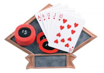 Diamond Resin Playing Cards Poker Plate Available in 2 sizes