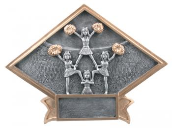 Diamond Resin Cheerleading Plate Available in 2 sizes