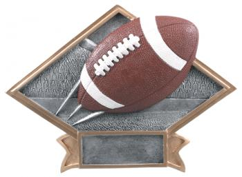 Diamond Resin Football Plate Available in 2 sizes