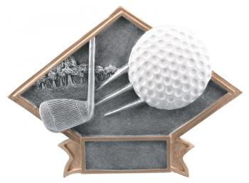 Diamond Resin Golf Plate Available in 2 sizes