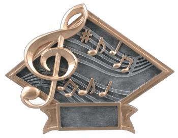 Diamond Resin Music Plate Available in 2 sizes