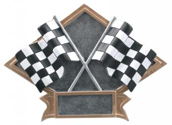 Diamond Resin Racing Flags Plate Available in 2 sizes