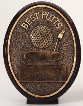 ROV1202 Oval Bronze Best Putts Award