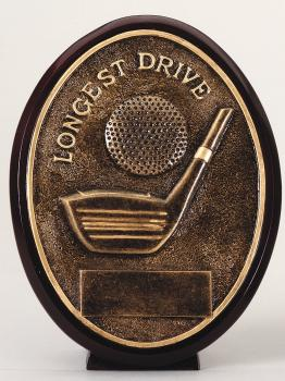ROV1101 Oval Bronze Longest Drive Award