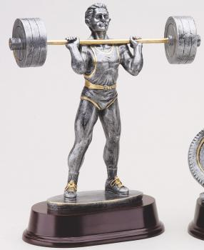 MPI RX431SG Male Press Weightlifting Resin Award