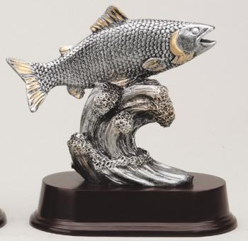 MPI RF2121SG Pewter Resin Fish Award