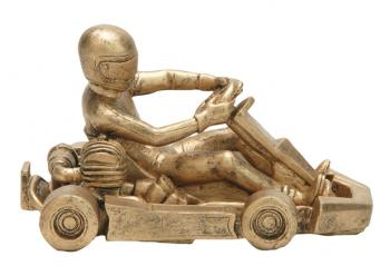 50805 Resin Go Kart Award shown in gold