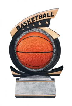 PDU 81505GS Gold Star Basketball Resin Award