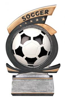 PDU 81515GS Gold Star Soccer Resin Award