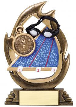 Flame Series Swimming Resin Award