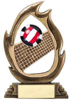 Flame Series Volleyball Resin Award