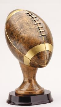 RX802AB Resin Large Football on Mahogany Finish Base
