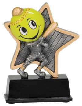 LPR09 Little Pals Resin Softball Trophy Award