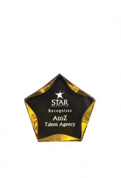 JDS LST5BKG Gold and black 5 inch star acrylic