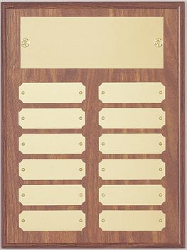 9x12 Perpetual Plate Plaque with 12 Plates