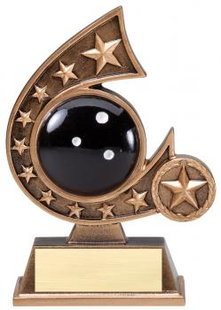 Comet Star Burst Bowling Resin Award