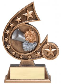 Comet Star Burst Cheerleading Resin Award