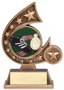 Comet Star Burst Track Resin Award