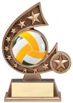 Comet Star Burst Volleyball Resin Award