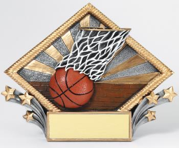 MPI Color Diamond Basketball Plate Award