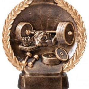 MPI RFH546 Super 3D Male Bench Press Weightlifting Resin Award
